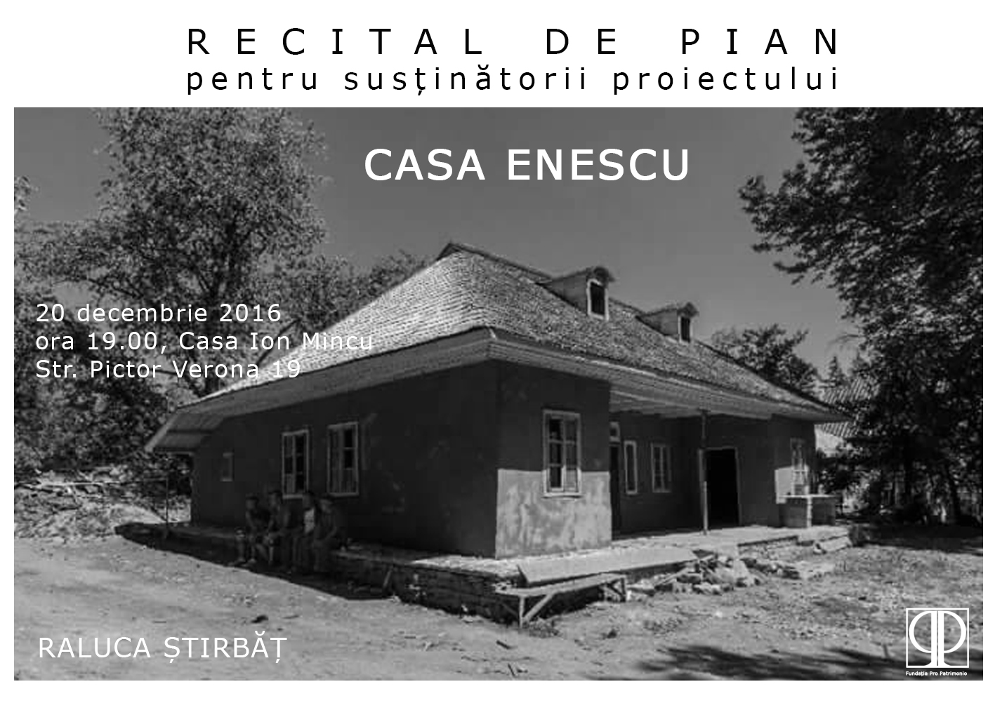 Concerts and Recitals in Support of the Enescu House in Mihăileni