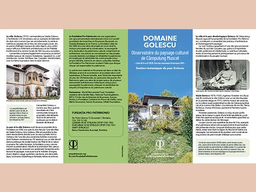 Domain Golescu. Sentiers botaniques du parc Golescu/ Pro Patrimonio 2020/ versiunea în limba franceză