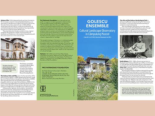 Golescu Ensemble. Cultural Landscape Observatory în Câmpulung Muscel/  Pro Patrimonio 2020/ versiunea în limba engleză