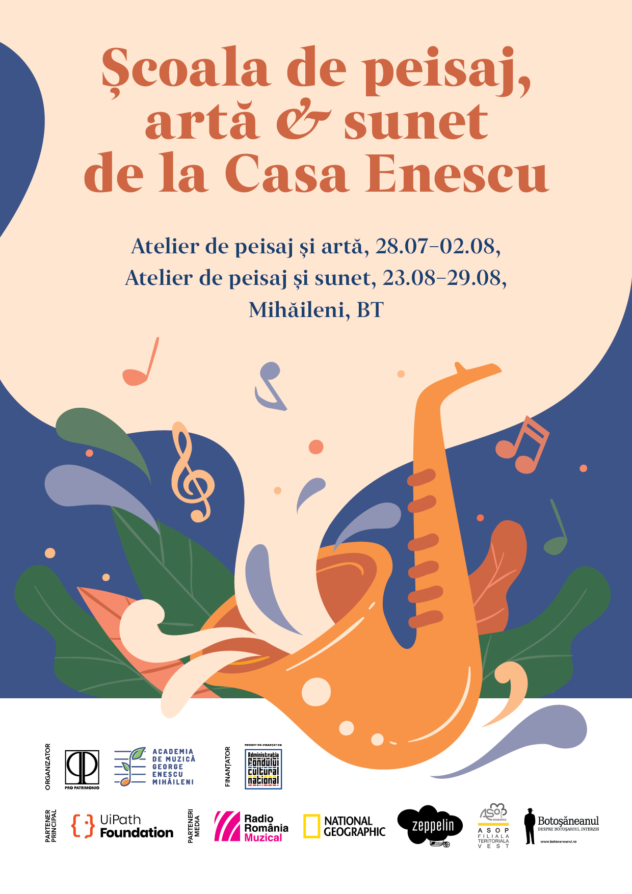 Școala de peisaj, artă și sunet la Casa George Enescu de la Mihăileni