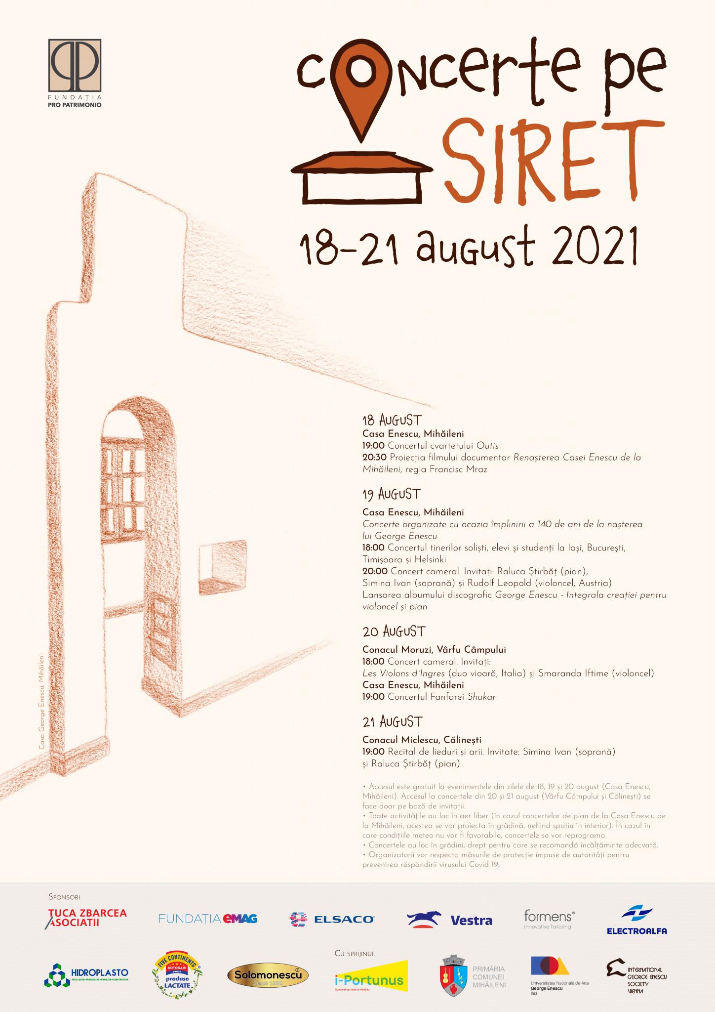 """""""Concerte pe Siret"""". 140 de ani de la nașterea lui George Enescu"""